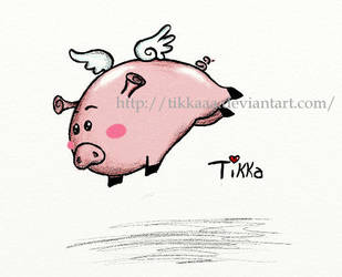 Pig fly by Tikkaaa