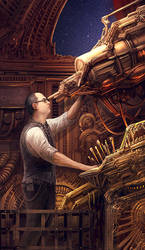 Clockwork Astronomer by brass-and-steam