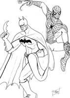 Batman+Spider-Man by randomartmanix