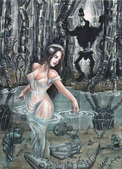 Last Breath of Life Watercolor by Carliihde