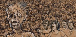 Zombie Vinyl Sleeve Design by Carliihde