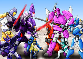 The Many Incarnations of Cyclonus (and Tailgate) by SoundBluster