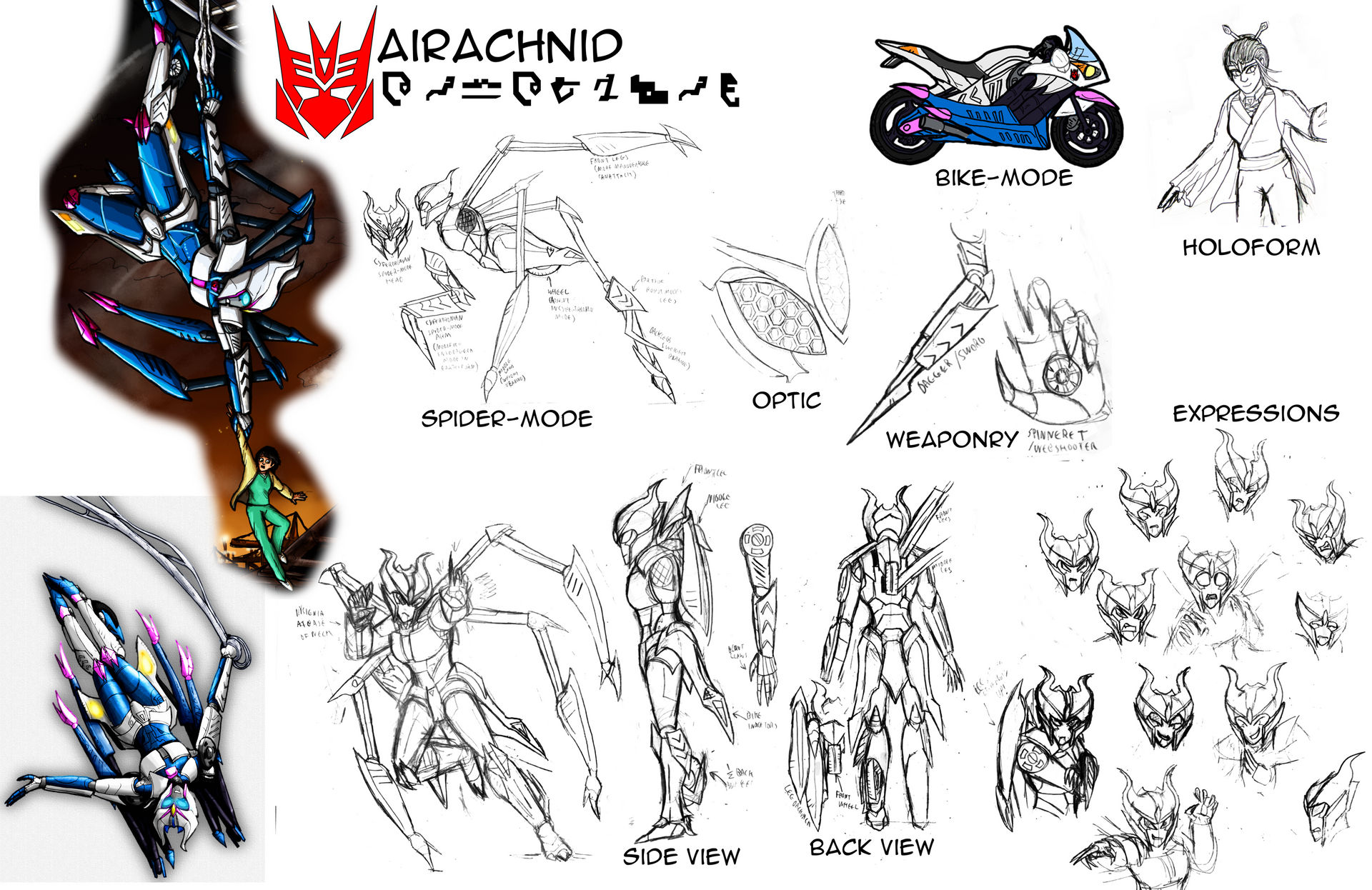 Reference Sheet Sg Airachnid By Soundbluster On Deviantart