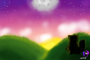 SunSet (background practice) by crystalzwolf