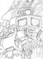 G1 Optimus Prime and Bumblebee by VegetaPrime