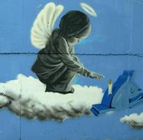 graffiti aniolek1 by garnoo