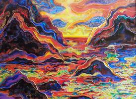 Greek sunset by Irrisssha