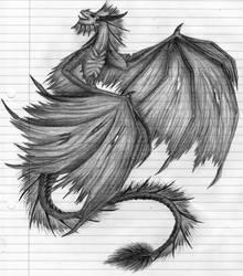 Wyvern Sketch by Rebecca1208