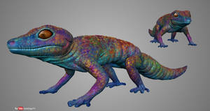 Playing With Sculptris #12 - Rainbow Gecko by Rebecca1208