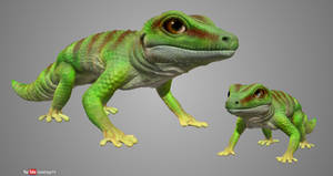 Playing With Sculptris #12.5 - Gecko Recoloured by Rebecca1208