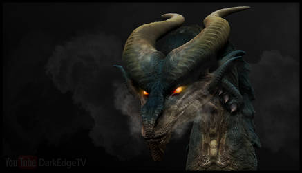 ZBrush - ''Nemesyth'' Dragon Bust by Rebecca1208