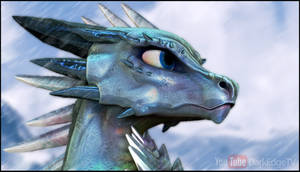 ZBrush - ''Beryl'' Gemstone Dragon Bust by Rebecca1208
