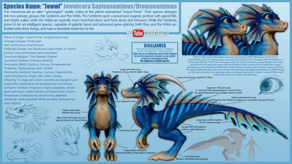 Species: Jowwicera - Reference Sheet by Rebecca1208