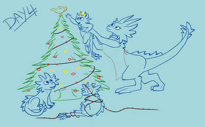 Day #4 Doodle - Jowwi Christmas by Rebecca1208