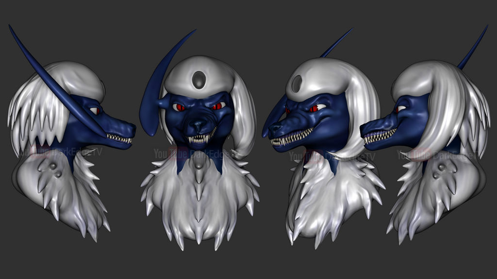 ZBrush - Glass the Absol Previews by Rebecca1208