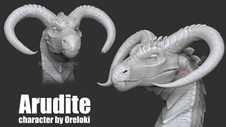 Arudite TEXTURELESS - COMMISSION ZBrushCore by Rebecca1208