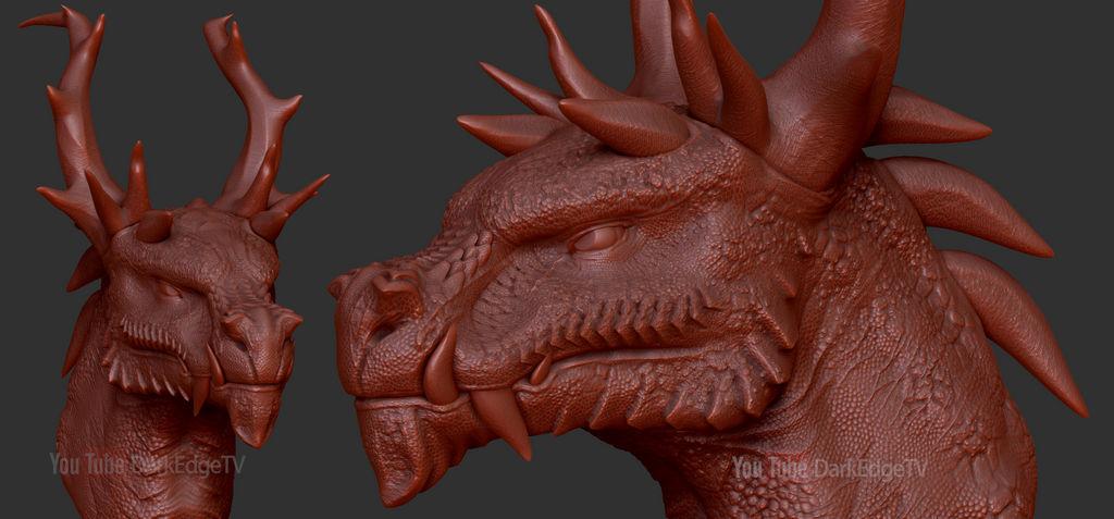 Random Practice Sculpt - Antler Dragon Thing by Rebecca1208
