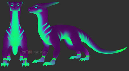 Neon Drakething - ZBrushCore by Rebecca1208