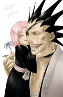 Bleach - Kenpachi and Yachiru by pika