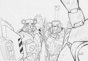 Inktober #30 - Megatron by pika
