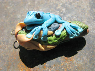 Magical Teal Frog by masaste