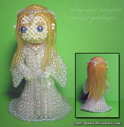 Beaded Doll: Galadriel (Lord of the Rings) by crafty-maika