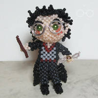 Beaded doll: Harry Potter by crafty-maika