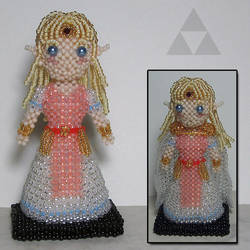 Beaded doll: Zelda (A Link between Worlds) by crafty-maika