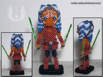 Beaded doll: Ahsoka Tano by crafty-maika