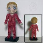 Beaded doll: Seven of Nine by crafty-maika