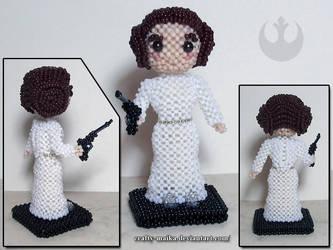 Beaded doll: Leia Organa 2.0 by crafty-maika