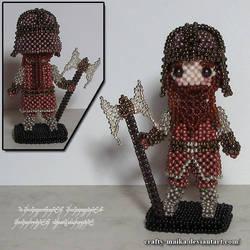 Beaded doll: Gimli by crafty-maika