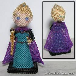 Beaded doll: Elsa (Frozen) by crafty-maika