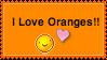 Orange Love Stamp by Maclafel7