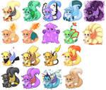 All The Pokemon Fluffs by Gullsko