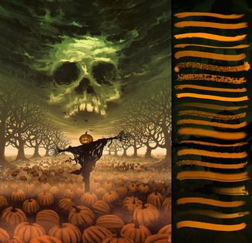 Halloween Brushes - Set 22 by glassthroughskin