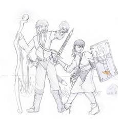 Fohwyn and Kibalover by Gaijendave