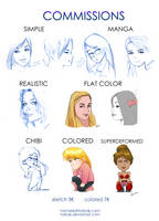 Commissions OPEN Portraits Sketches by Torbak
