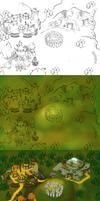 Worldmap  paint process by Torbak