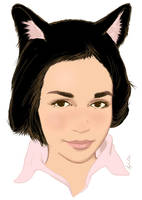 Portrait with cat ears by Torbak