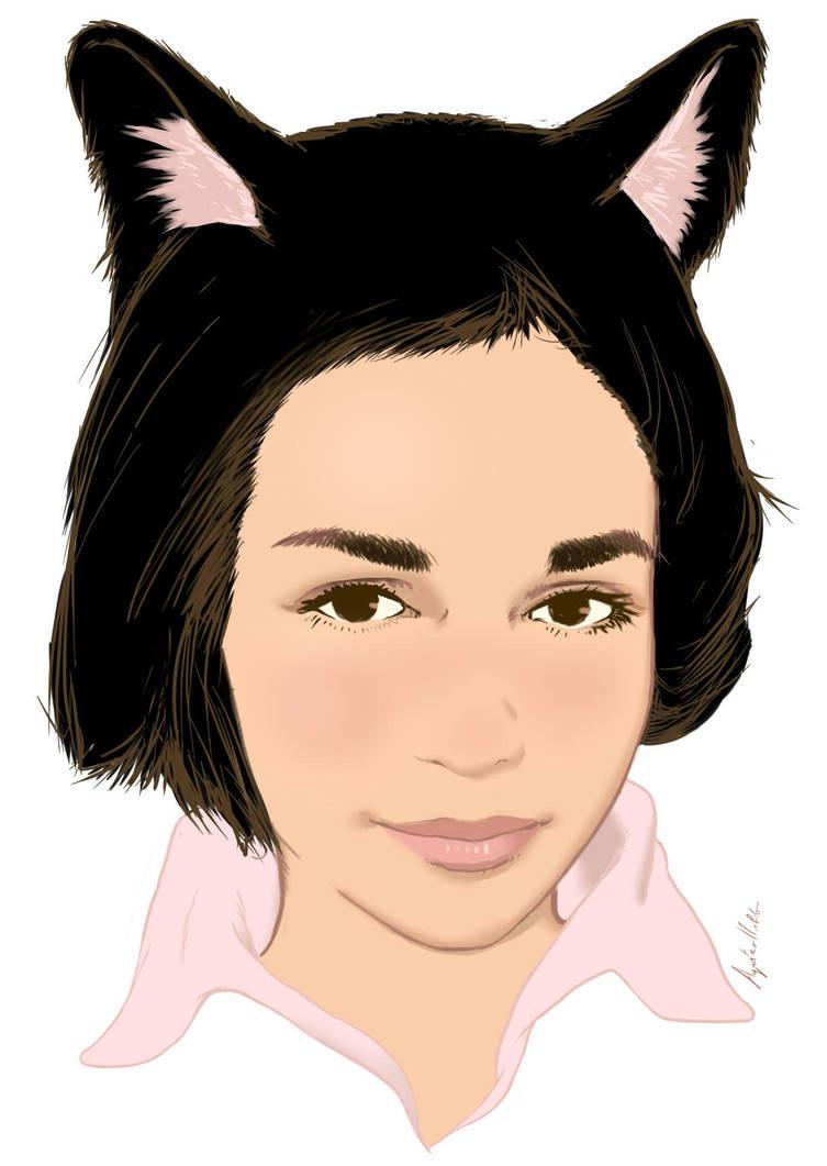 Portrait with cat ears by Torbak