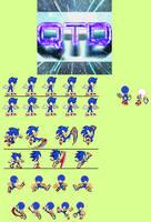 Small Custom Sonic Sprite Sheet by ASparing-AStep