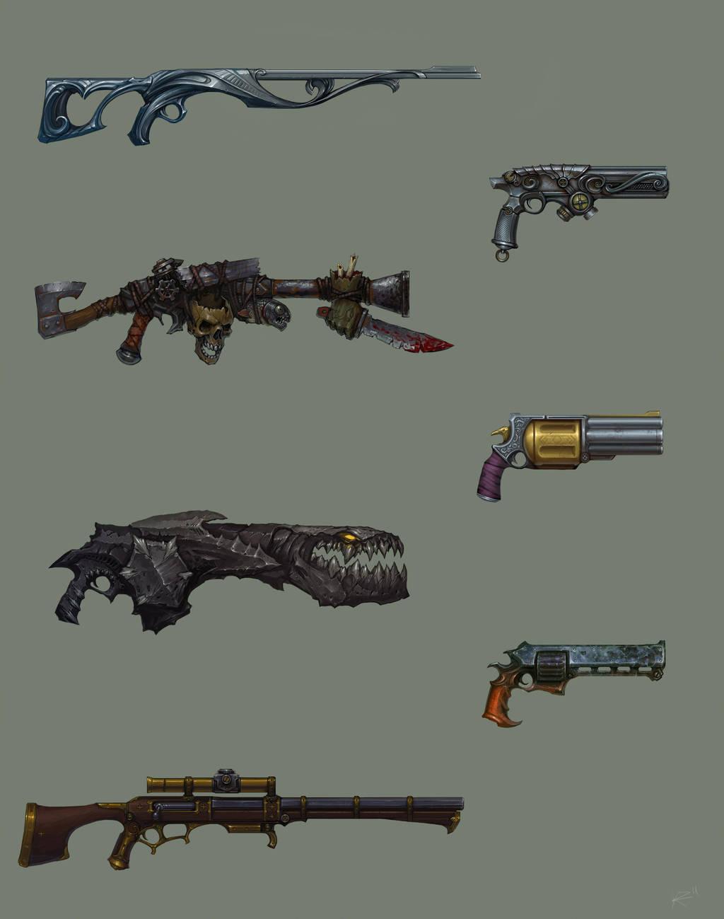 Fantasy guns by Kozivara