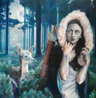 Artemis on the Hunt by BriannaAngelakis