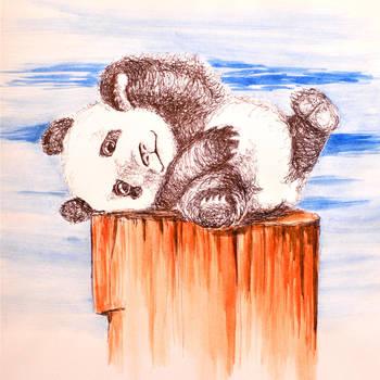 Office Scribbles 011 - Kung Fu Baby Panda by TalesandScribbles