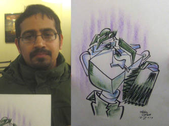 caricature- green purple 2010 by chrisCHUA