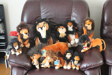 All my Scar plushies by Laurel-Lion