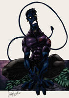 Nightcrawler sketch color by -adam-