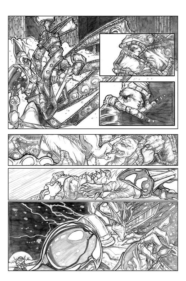 Ninja Bear page 5 pencils by JasonGodwin