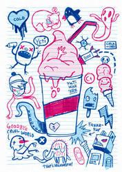 Notebook SlurpeeTee by cronobreaker
